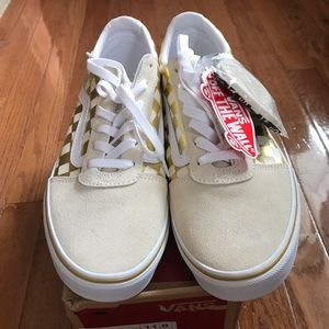 Gold Checkered Vans